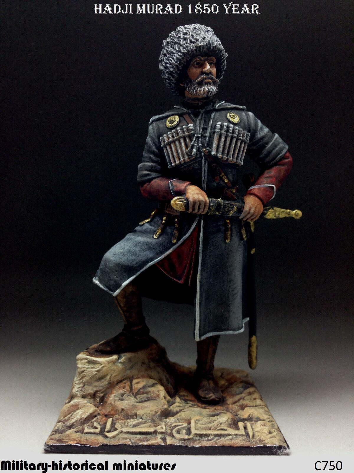 Hadji Murad 1850, Tin leksakssoldat 90 mm, statyn, metallskulptur Hand PAINTED