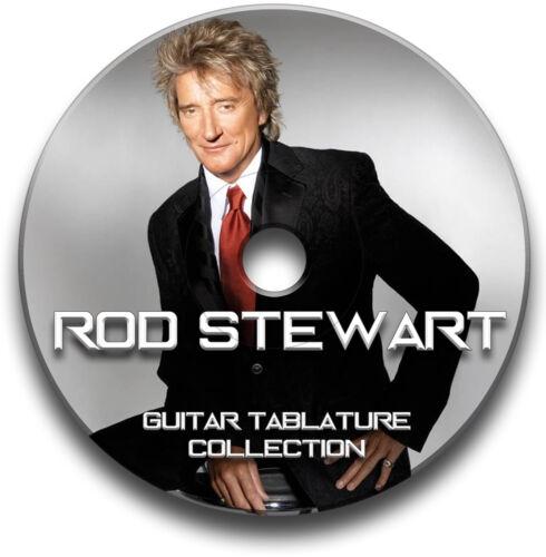 Rod Stewart Rock Guitar Etiketten Tablature Lied BUCH Software CD