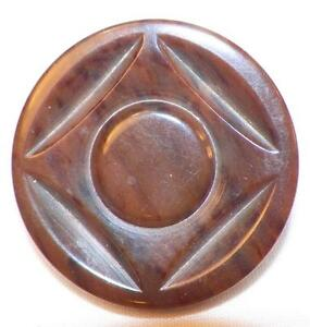 Art Deco Brown Plastic Button Large Marbled Coat Jacket Vintage Clothing