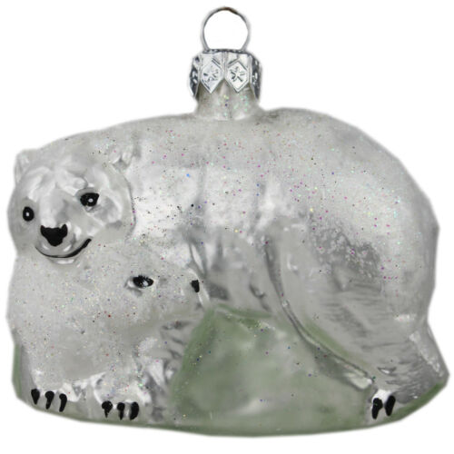 Glasfigur glastier verre Personnage Animal Ours Polaire-Décorations de Noël Bijoux