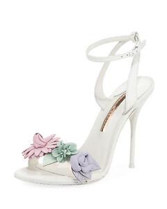 14624a355ed2 Image is loading Sophia-Webster-Lilico-Floral-Heeled-Sandals-White-Pastel-