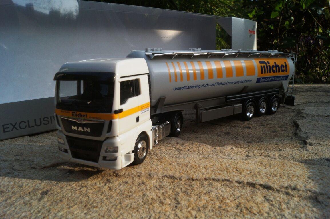 Herpa MAN TGX XLX kippsilo-Semi-remorque  Michel construction GmbH  1 87 929127 exclusivement