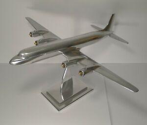 Large Aluminium Douglas DC-7 Model Airplane c.1953