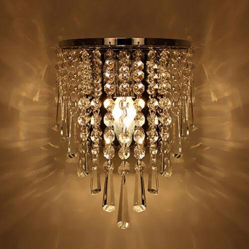 1Pc Modern Crystal Wall Lights Bedside Aisle Lamp Sconce Wall Fixture Home Decor