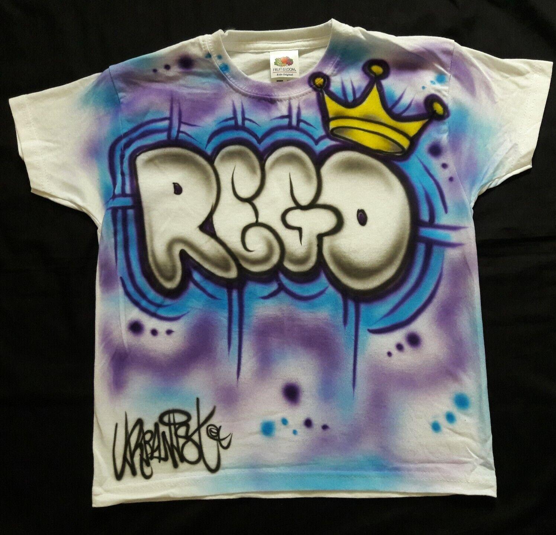 NEW Style Urbanist custom Graffiti Street Dance 2 colour Kids T-Shirt with crown