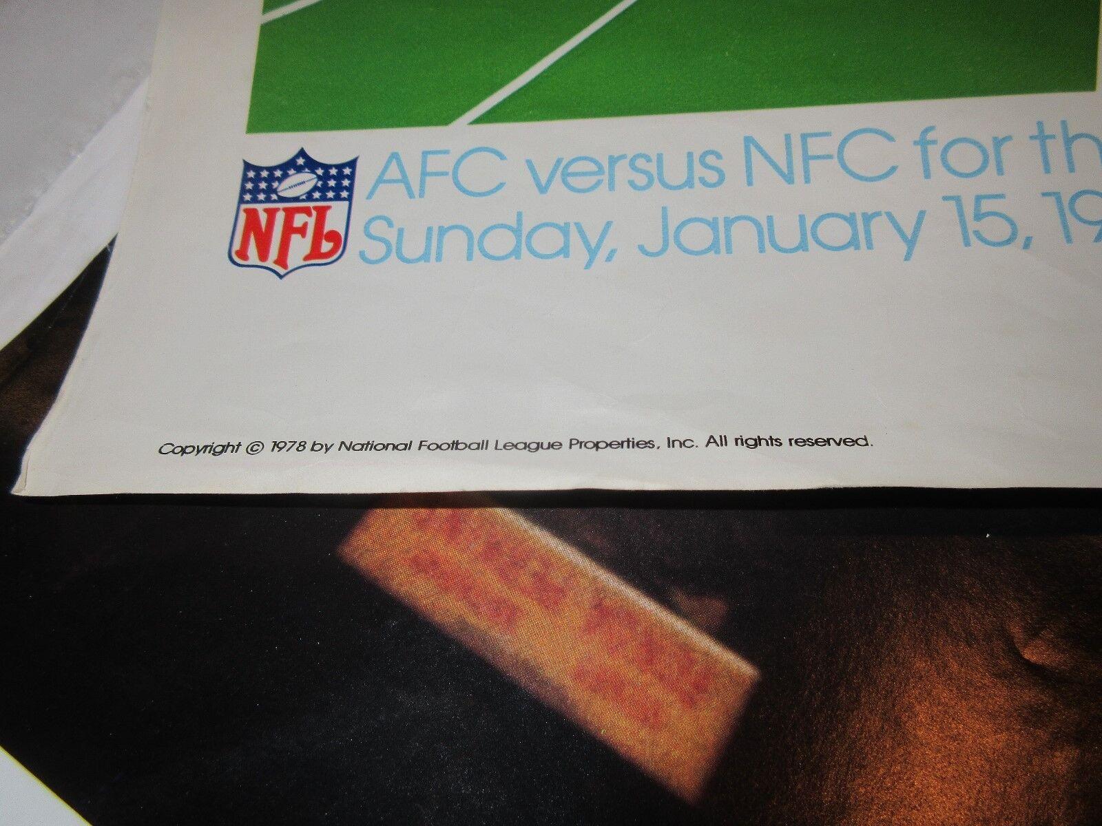 """Super Bowl XII (12) ,POSTER ,1/15/78, 22"""" X 33"""" Louisia"""