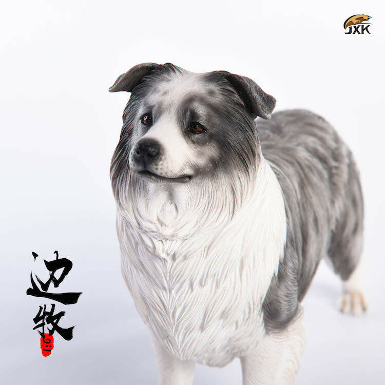 1 6 JxK.Studio Jxk006A Resin Border Collie Pet Dog Model Animal Figure Toys