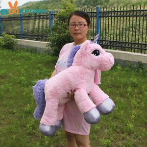 New-65cm-Soft-Giant-Plush-Jumbo-Pink-Large-Unicorn-Toy-Stuffed-Animal-Doll-Gift