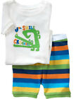 2Pcs Baby Boy Girl Kids Toddler T-shirt Top + Pants Shorts Outfit Clothes Set