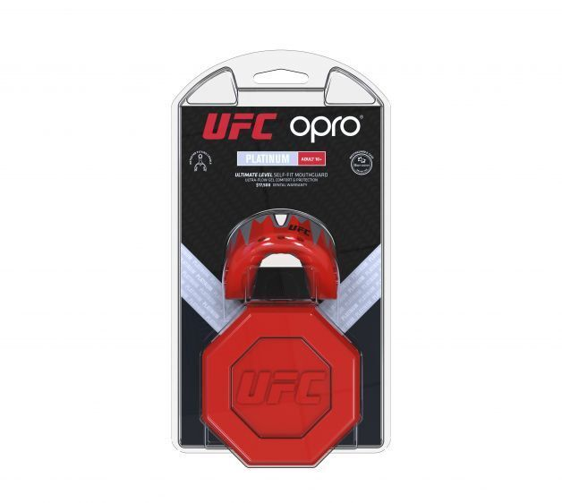 Opro Platine Fangz UFC Adultes Protège-dents Rouge Protège-dents Protège-dents Protège-dents Mma Boxe Sports a919be