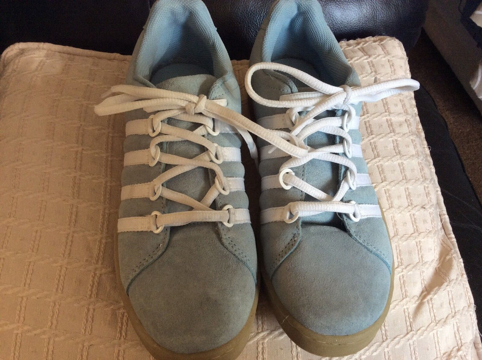 Mens - Practical Blue & White Trainers - Size 6 - Mens from George - BN 591063