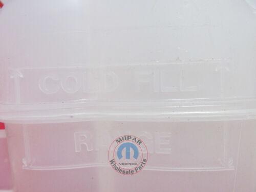 DODGE JOURNEY Pressurized Coolant Overflow Bottle Reservoir NEW OEM MOPAR