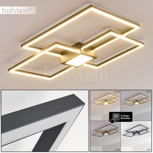 LED Flur Leuchten Anthrazit Decken Lampen dimmbar Wohn Schlaf Zimmer Beleuchtung