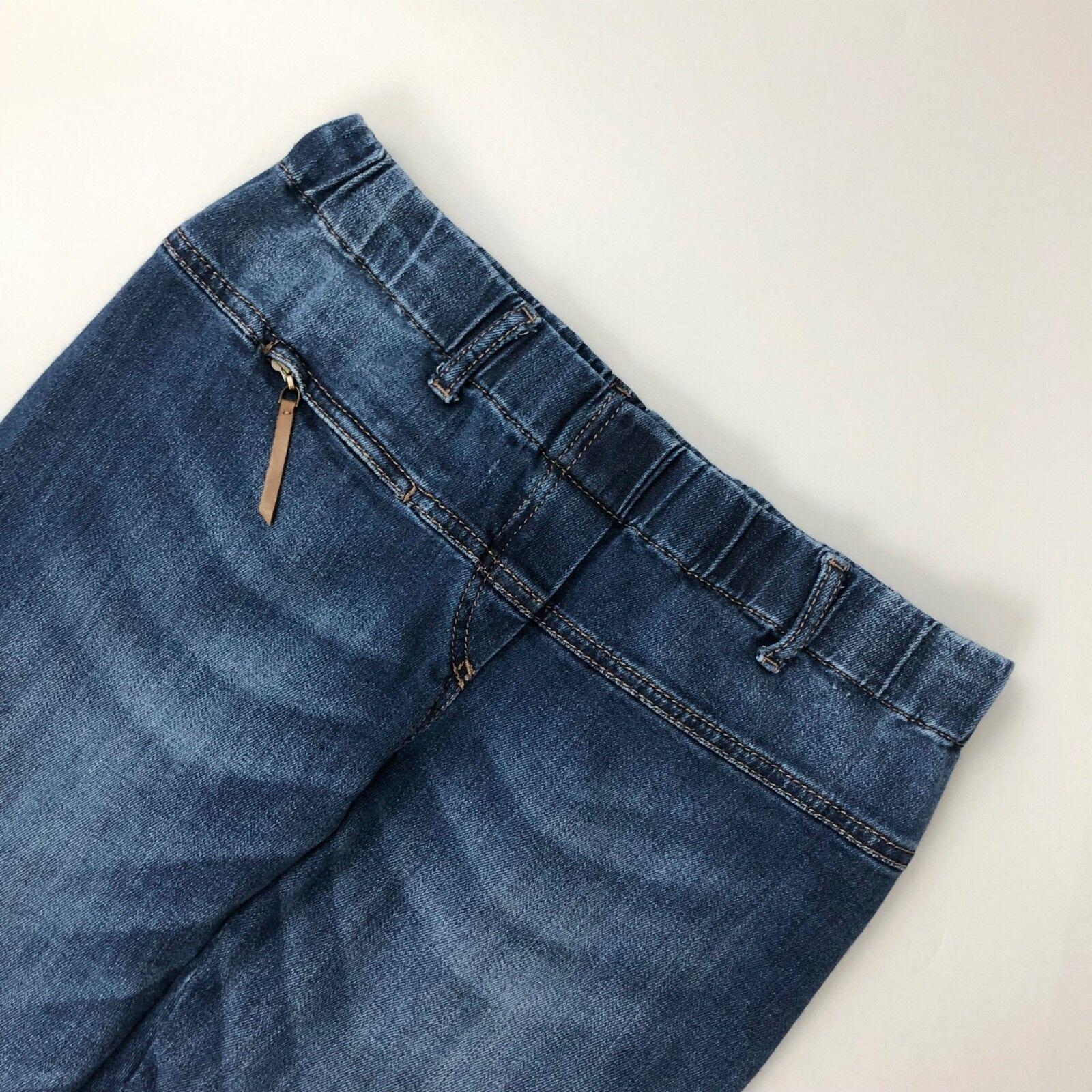 Brunello Cucinelli Ladies Slim Fit Blau Denim Trousers Jeans Größe S IT42 US2 4