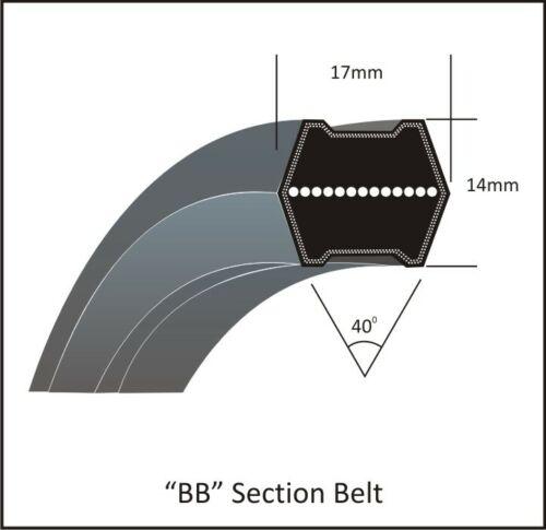 6-Kant Doppelkeilriemen BB 93-17 x 14 mm LW 2405