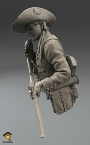 RP Modèles guérilla enfant Peninsular War non peinte 1//12th Kit de buste Ltd Edition