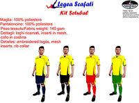 Kit Setubal Completino Completo Sport Legea Muta Calcetto Personalizzazione