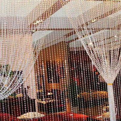 40inch Clear Acrylic Crystal Beads Garland Chandelier Wedding Party Decor Hang