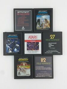 Atari-2600-Lot-A-7-Game-Cartridges-Authentic-Original-Cleaned-Untested