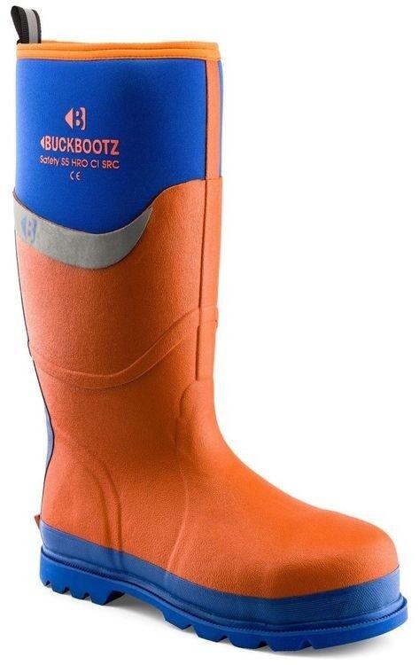 Buckler orange Buckbootz BBZ6000 S5 HRO SRC Site Work Safety Wellie Wellington