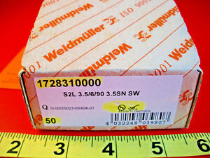 Weidmuller-1728310000-Lot-of-50-Terminal-Blocks-S2L-3-5-6-90-3-5SN-SW-6P-3-5mm
