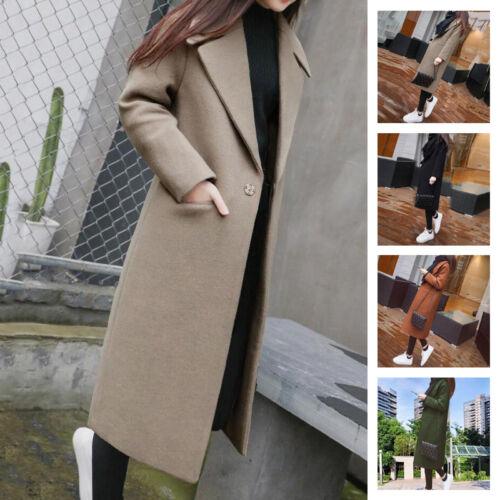 Cashmere Outwear Lang Uld Lapel Jacket Parka Hot Kvinder Trench Coat Overcoat UTBwq