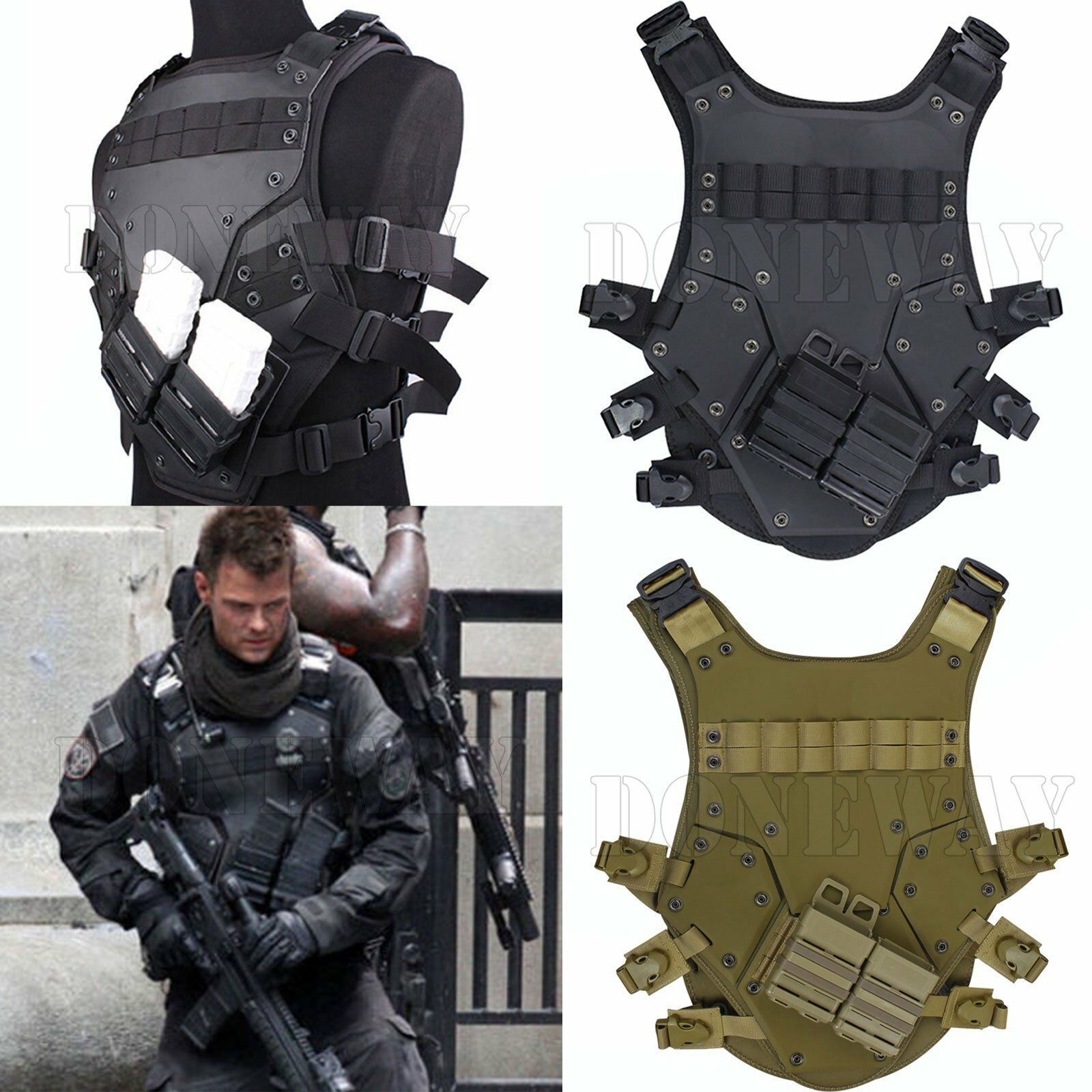 MOLLE utilisation gilet tactique gilet combat moyens Gilet Tactical Combat Vest tf3