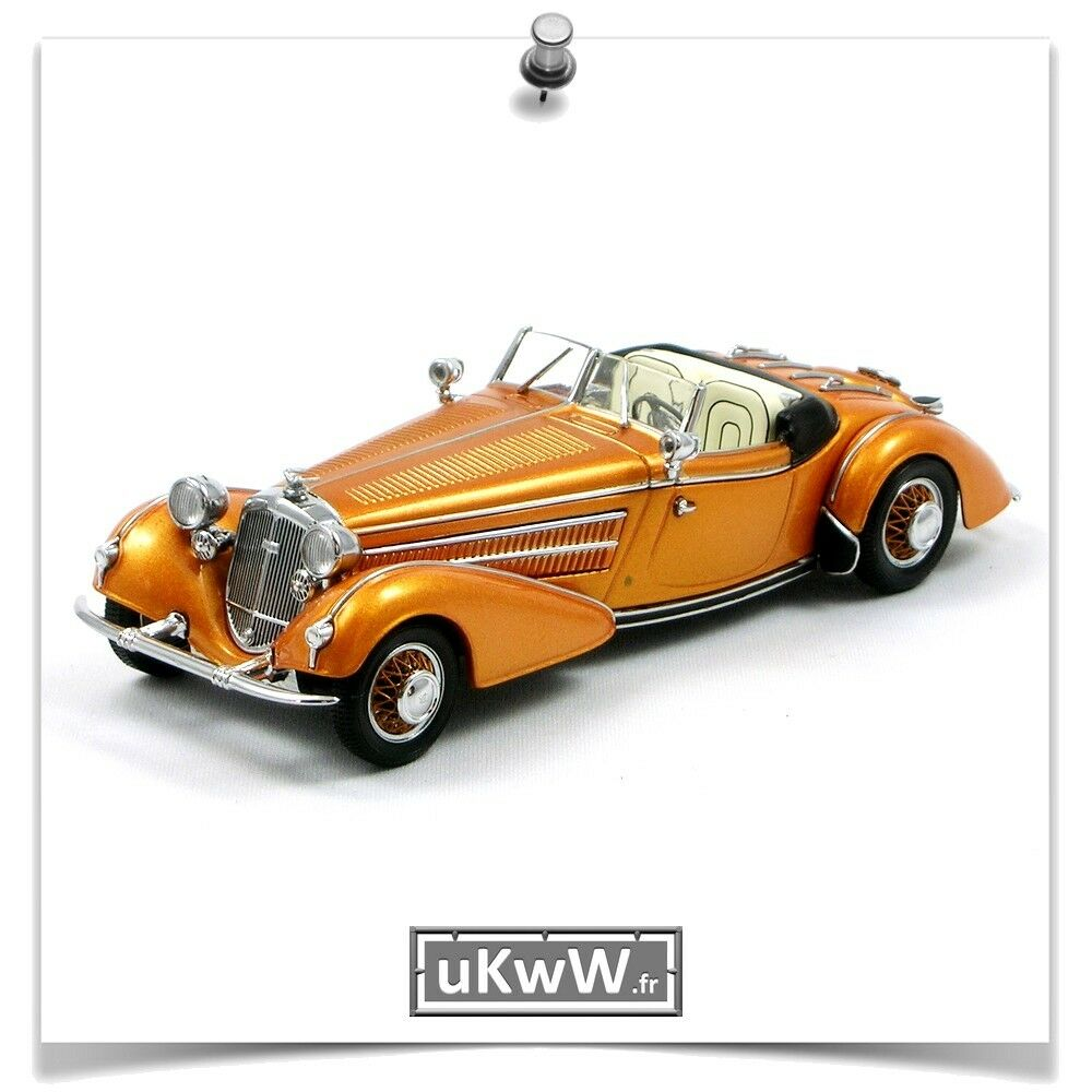 Minichamps 1 43 - Horch 855 'Spezial roadster' 1938 Orange métallisé