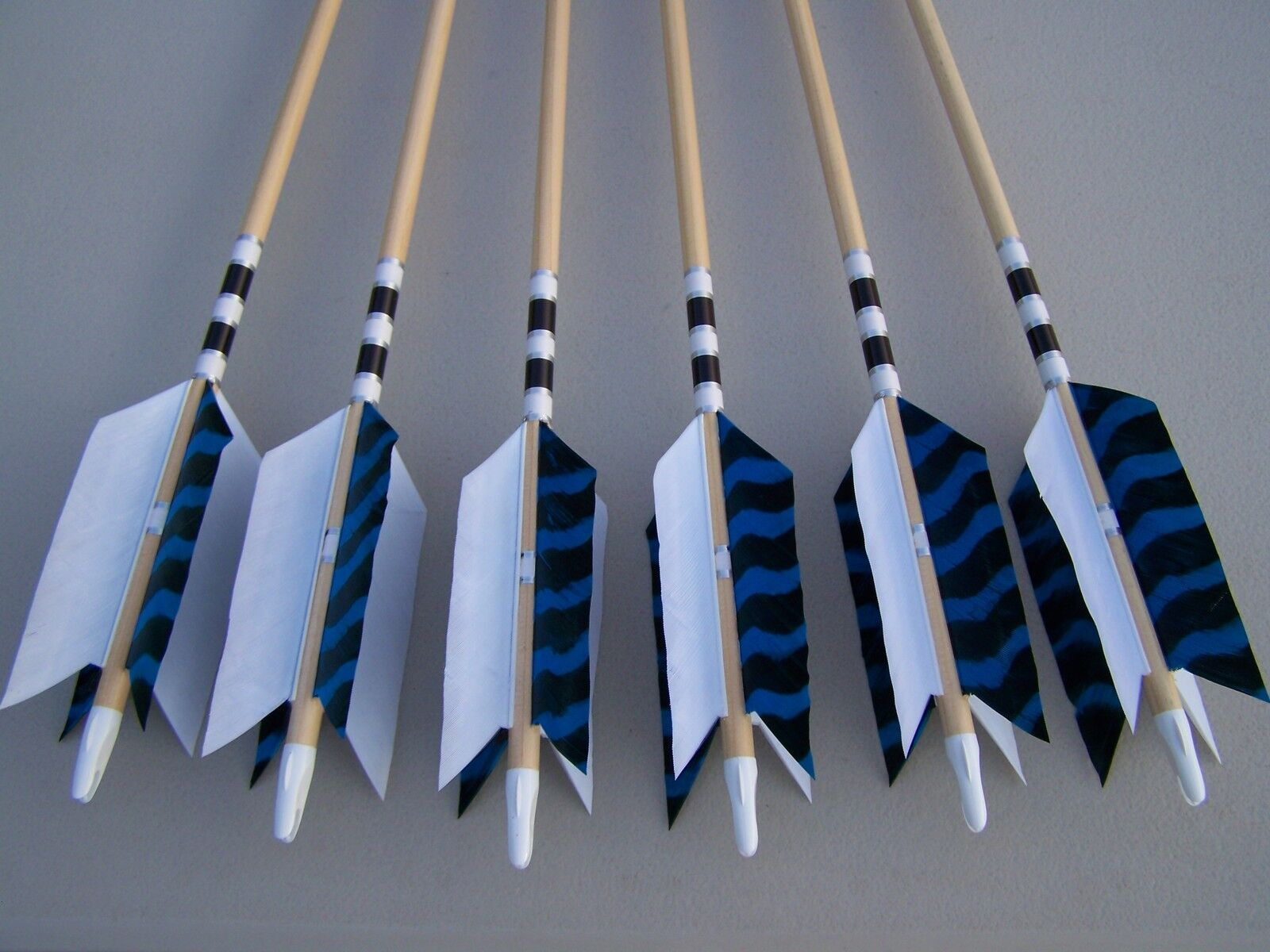 6 New Cedar Wood Traditional ARCHERY   Arrows LONG BOW  FLU-FLU 50 55