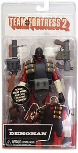 TEAM-FORTRESS-2-7-034-Series-1-RED-Demoman-Action-Figure-NECA-NEW