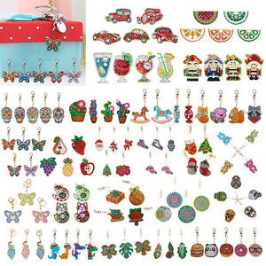 3-4-5pcs-DIY-Full-Drill-Special-Shaped-Diamond-Painting-Keychain-Pendant-Gift