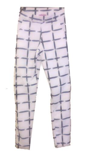 Check Bianco Stretch Lavoro Ufficio Pantaloni Sigaretta SVENDITA NUOVO Donna/'S