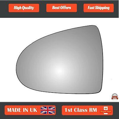 Left passenger side Wing mirror glass for Mitsubishi Colt 2004-2012