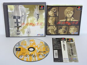 PS1-SHIN-MEGAMI-TENSEI-II-2-Bug-Revised-Spine-Playstation-Japan-Game-p1