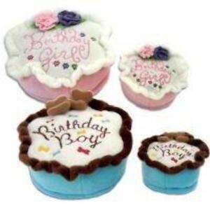 Image Is Loading Birthday Cake Plush Dog Toy