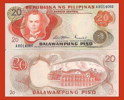 20 Peso Energetic Philippines P150a Pres Quezon / Malakanyang Palace Unc $5 Cat See Uv Sale Overall Discount 50-70%