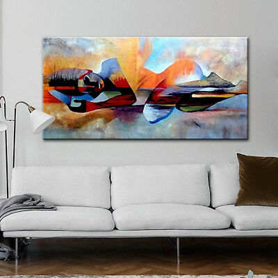 Large Size Handmade Oil Paintings Home Decor Wall Art Colorfull Beauty Girl Hill Ebay