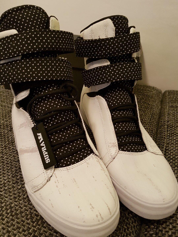 Supra High Sneaker Weiss/Schwarz Gr 47,5