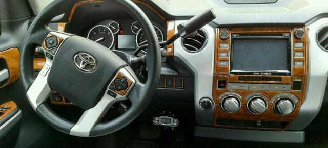 Toyota Tundra Sr5 Interior Wood Dash Trim Kit Set 2014 2015 2016 2017 2018  2019