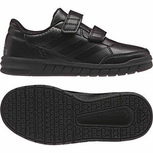 0494b2b09830 Adidas Boys Black Back To School Shoes Trainers Alta sports Casual ...