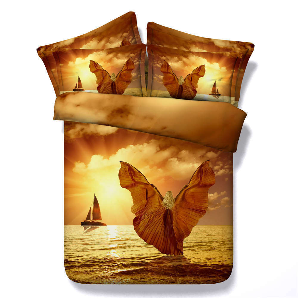 Great Heights 3D Printing Duvet Quilt Doona Covers Pillow Case Bedding Sets
