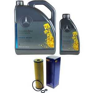 6L-Inspektionspaket-Mercedes-229-5-Motoroel-5W-40-SCT-Olfilter-11117284