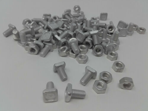 Two packs x 50 Greenhouse Nuts /& Square Bolts Elite Greenhouses Nuts and Bolts