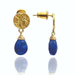 Azuni-Jewellery-Athena-Princess-Kate-Gold-Drop-Earrings-Lapis-Gemstone-gift-bag