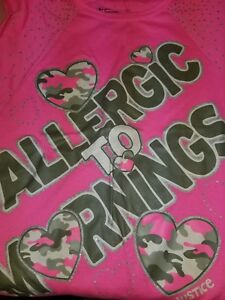 Justice-034-Allergic-to-Mornings-034-follow-your-dreams-girls-size-10-top