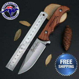Browning-Fixed-Blade-Knife-Hunting-Camping-Tactical-Outdoor-Tool-AU-Stock-Sheath
