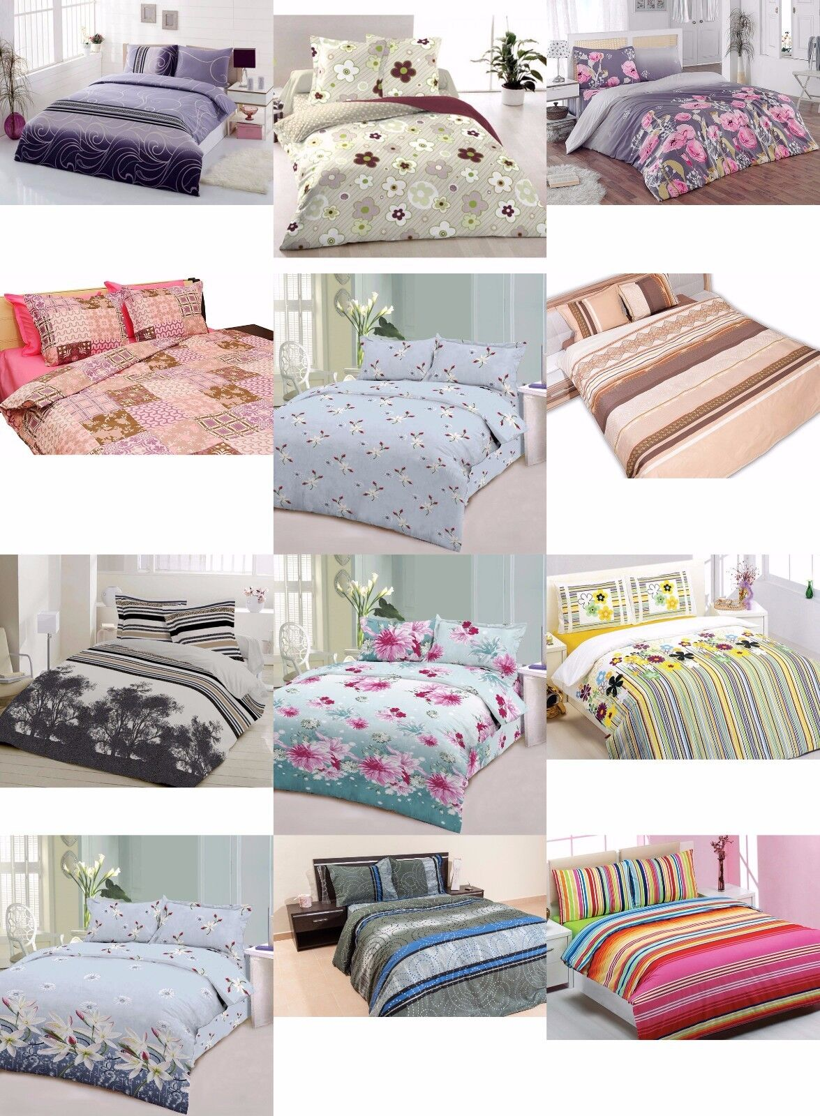 ThreeL Florals 100% Cotton Duvet Cover Bedding Set NOT Comforter Set