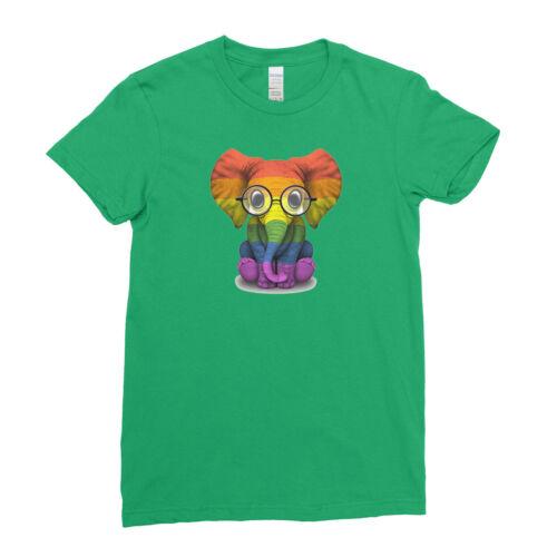 Bébé éléphant Lunettes Gay Pride Rainbow Pride LGBT Hommes Femmes Enfants T-Shirt