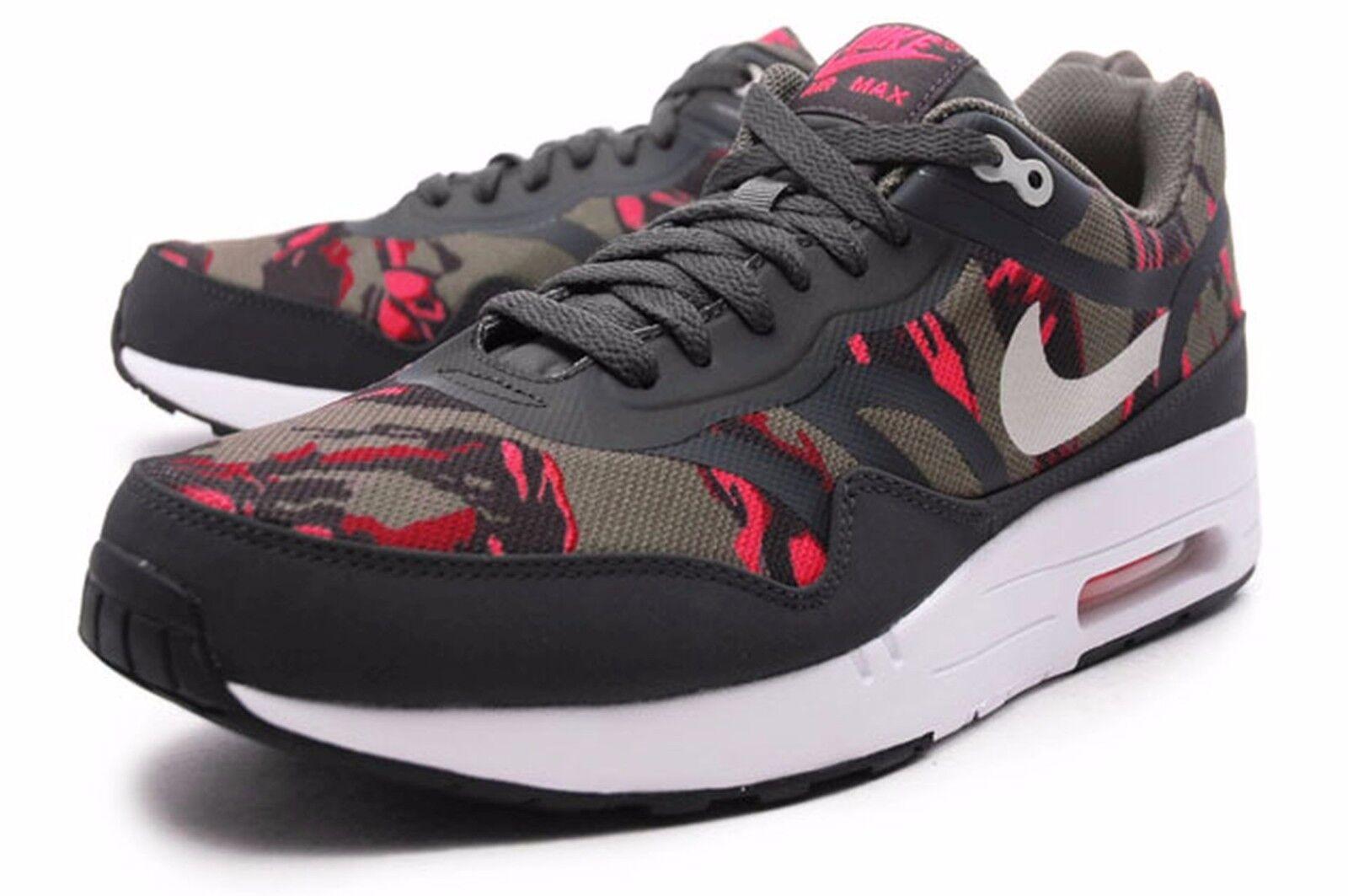 Nike Air Max 1 PRM TAPE Sz 11.5 599514-206 Mens Atomic Camo Pack Petra Brown Atomic Mens Red 5c7d57