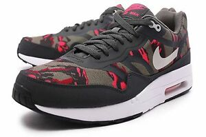 Details about Nike Air Max 1 PRM TAPE Sz 11.5 599514 206 Mens Camo Pack Petra Brown Atomic Red
